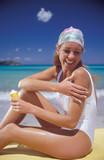 crema solare poster