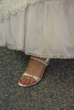 foot open toe bridal shoe wedding bride poster