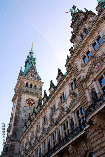 front of cityhall hamburg
