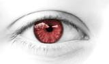oeil de femme rouge violence conjuguale poster