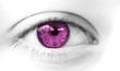 oeil regard de femme rose symbole de sexe