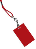 blank red badge with copy space (+ clipping path) poster