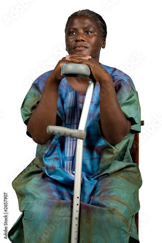 invalid old african woman