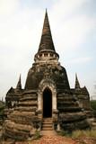 ringed spire of chedi, ayutthaya thailand poster