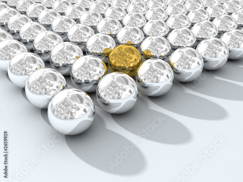 chromium spheres array