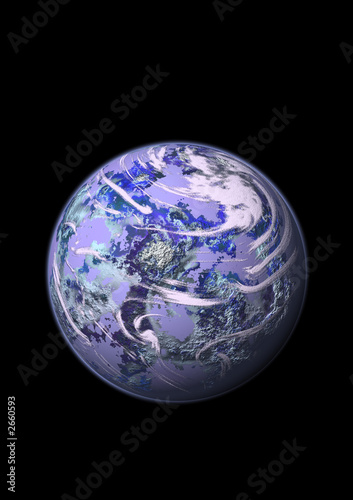planet moon isolated