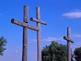 crosses-wooden poster