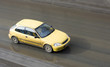 Постер, плакат: yellow car a honda japanese sport car model