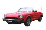 small red convertible poster