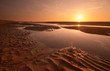 sunset evening on the beach