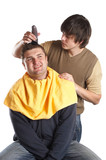 getting a haircut poster