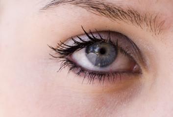 teenagers eye in closeup