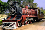 india: old steam train poster
