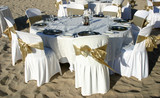 dinner table at a beach wedding - Fine Art prints