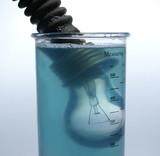 lamp in liquid poster