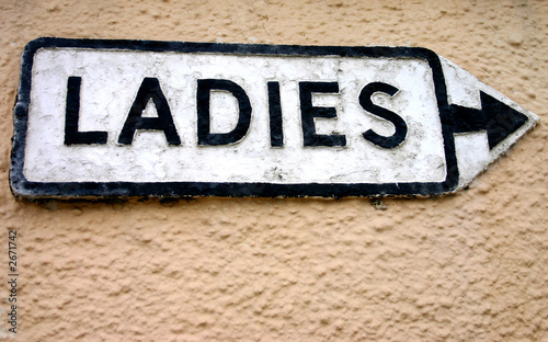 ladies sign.