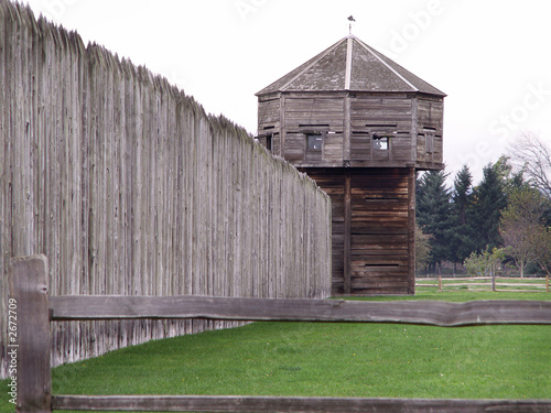 Old wooden fort by scott frangos royalty free stock for Old wooden forts