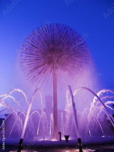 Leinwanddruck Bild fountain