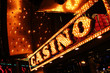 Leinwandbild Motiv las vrgas neon casino sign
