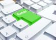 grüne enter taste einer tastatur büro