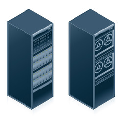 computer hardware icons set - design elements 55l