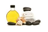 Fototapety spa towels, oil and rocks