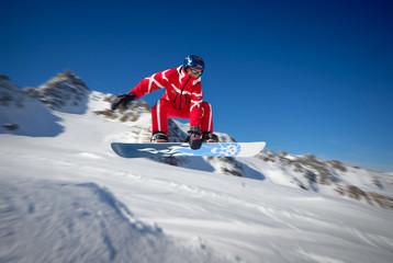 snowbard jump