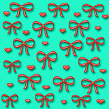 bows and hearts gift wrap poster