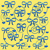 blue swirls gift wrap poster