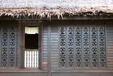 facade of a traditional malay house poster