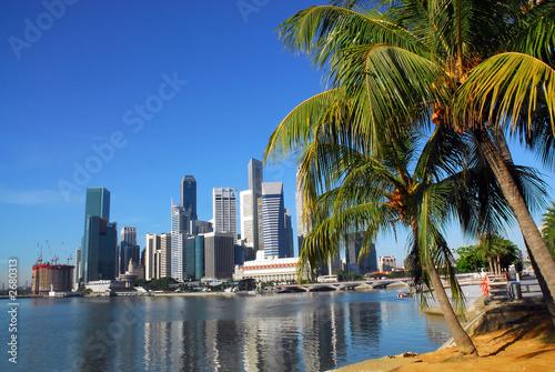 Fotobehang Singapore singapore skyline
