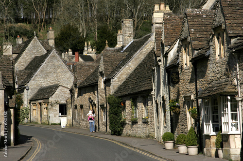 poster of castle combe, wiltshire