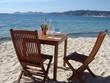 table sur la plage