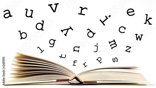 libro con lettere