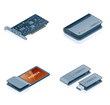 computer hardware icons set - design elements 55m