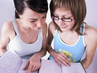 discussing homework