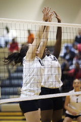 volleyball duo block