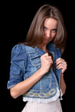 girl in jacket poster