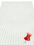 xxl size squared paper page with thumbtack motif poster