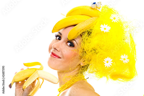 smiling banana lady