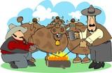 branding cattle poster