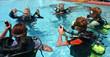 Leinwanddruck Bild - scuba diving lesson