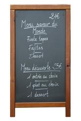 menu de restaurant - restaurant board