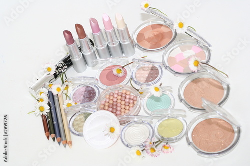 make up assortiment with daisys