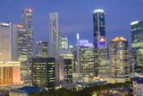 singapore cityscape at dusk poster