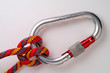 mountaineering: clove hitch on locking or safety a