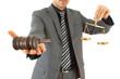 businessman with gavel