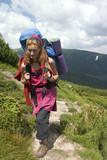 backpacker girl poster