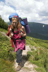 backpacker girl