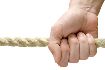 holding a rope